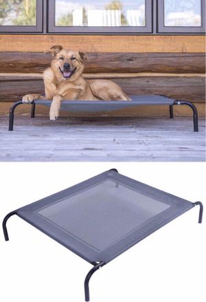 New in box raised dog pet cot bed 44x32x7 inches tall 110 lbs capacity for Sale in Los Angeles, CA