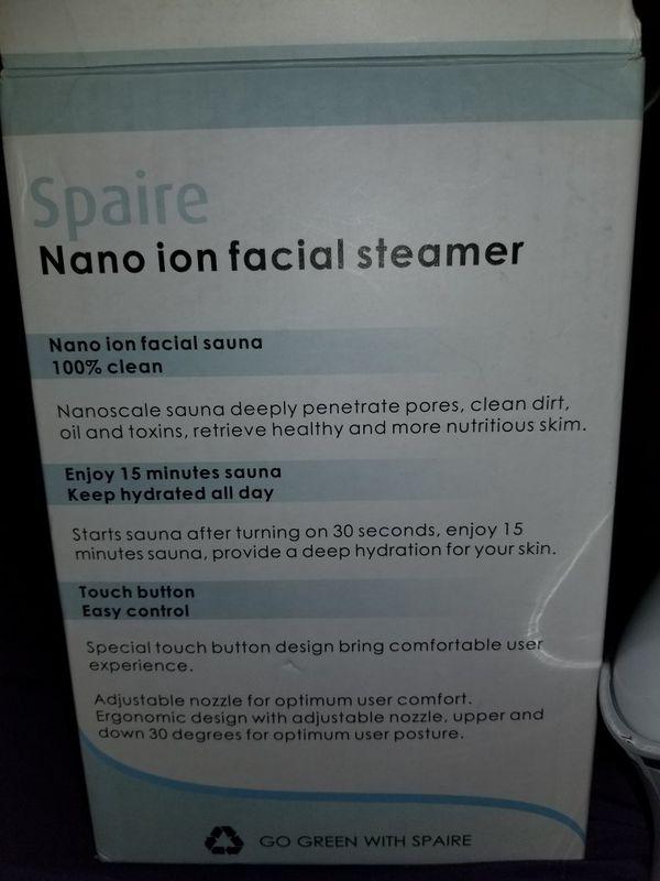 Nano ion facial steamer