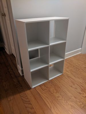 X2 white storage cubby shelves for Sale in Richmond Hill, GA