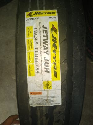 11r24.5 jk tires brand new llantas steer volante trailer for Sale in Mesquite, TX