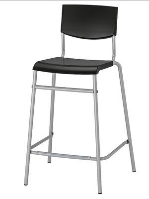 For sale Two Bar stools with backrest, black, silver color for Sale in Redmond, WA