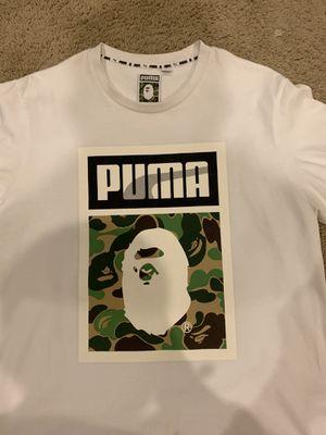 Bape x Puma Abc Camo Logo Tee White Size XL for Sale in Lancaster, CA