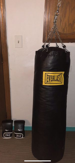 Everlast, heavy bag, punching bag, boxing for Sale in Boston, MA