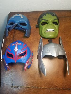 Marvel kids mask and rey mysterio mask lot for Sale in Deltona, FL