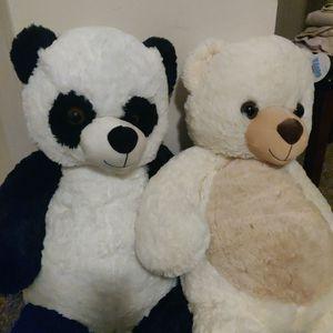 30 In Stuffed Animal Bear (Polar Bear & Pandabear) for Sale in Saint Paul, MN