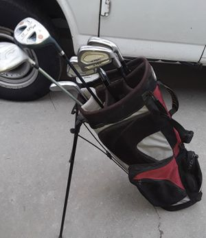Daiwa golf club irons 5-pw South Bay pw,sw putter drriver bag for Sale in Fresno, CA