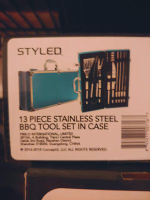 13 piece stainless steel BBQ tool set for Sale in Erie, PA