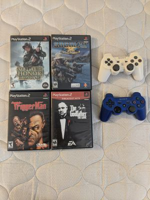 4 PS2 games & 2 PS4 controllers for Sale in Avon Park, FL