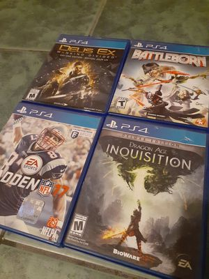 Ps4 video games lot of 4 $ for Sale in San Diego, CA