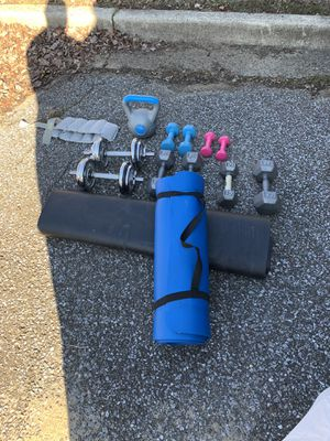 Dumbbells and other equipment for Sale in Bowie, MD