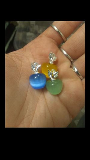925 Genuine Delicate CaTs Eye APPLe ChaRms for Sale in Bountiful, UT
