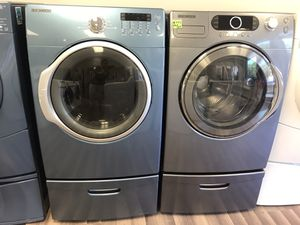 🔥🔥SAMSUNG WASHER & ELECTRIC DRYER🔥🔥MIX COLOR SET WITH PEDESTAL 🔥🔥90 DAYS WARRANTY🔥🔥 for Sale in Gastonia, NC