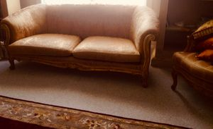 French guilted sofa and 2 Bergières chairs drastically reduced price for Sale in Great Falls, VA