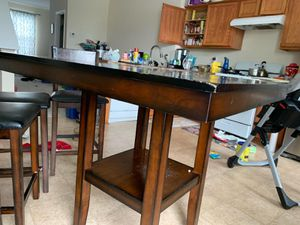 Counter height table and chairs for Sale in Silver Spring, MD