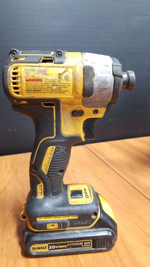"""Dewalt 1/4"""" Cordless Impact Driver DCF887 XR Brushless 20V WITH Battery for Sale in Los Angeles, CA"""
