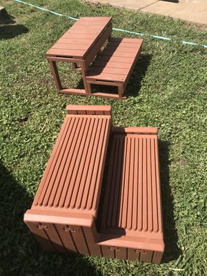 Steps for jacuzzi/hot tub, great shape, wood & resin, asking $50 each OBO for Sale in Philadelphia, PA