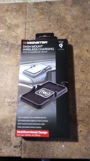 Monster dash mount wireless charging with smartphone stand for Sale in McLean, IL