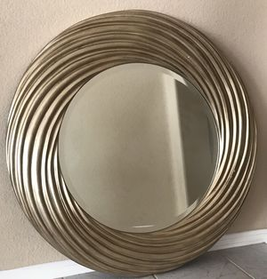 Wall mirror 35 inches radius! Gold and in great condition for Sale in Escondido, CA