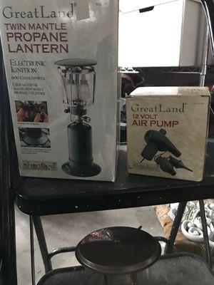 Camping gear: Propane lanterns, Tri-Pod Grill, Insta-bed for Sale in Wildomar, CA