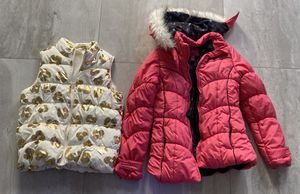 Girls winter coat and puffer vest! for Sale in Miami, FL