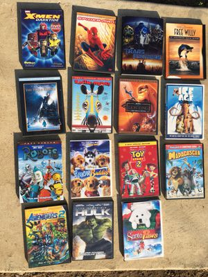 Kids popular movies on dvd for Sale in La Puente, CA