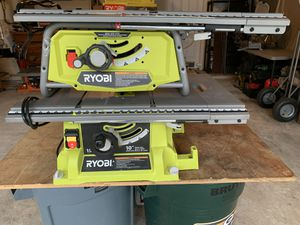 "(2) Ryobi 10"" Heavy Duty Table Saws (dewalt) - COME AS PICTURED - 1 runs great & 1 needs new plug for Sale in Spring, TX"