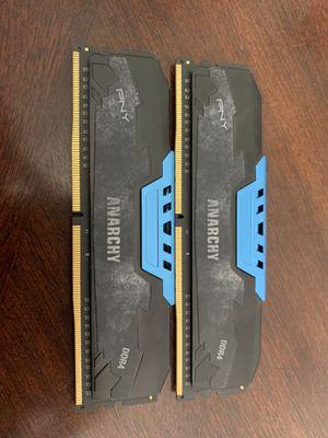 16 GB (2x8GB) DDR4 2400MHZ CL15 Desktop Memory for Sale in Flint, TX