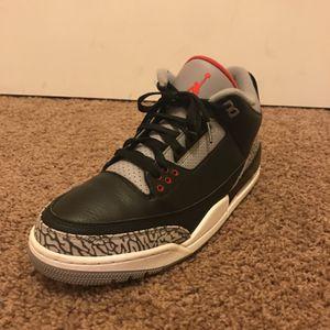 Jordan 3 Black Cement for Sale in Tacoma, WA