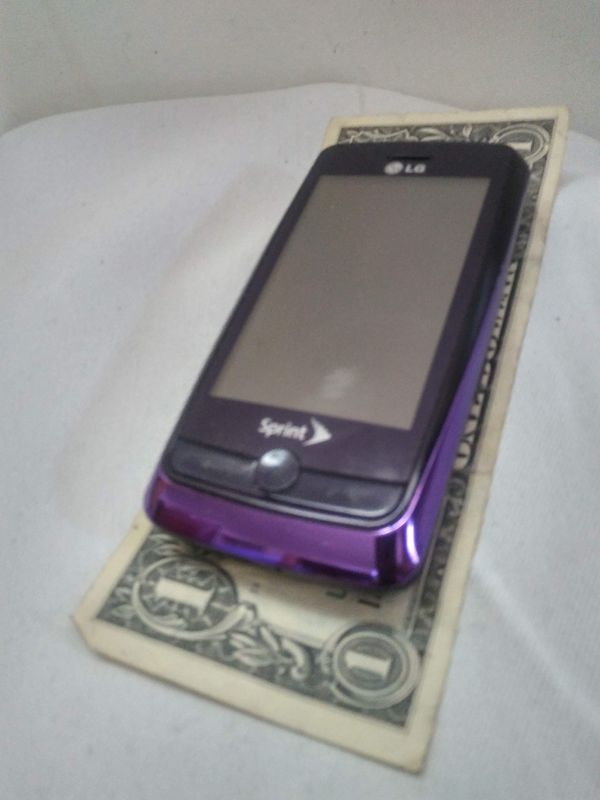 LG Rumor Touch Slide Phone, LN510, New in Box, Manual + USB Charging Cable + Memory Card + Sliding QUERTY Keyboard, Purple, Sprint