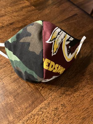 Camouflage/ redskins face mask for Sale in Washington, DC