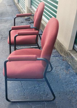 5 Red cloth office chairs** for Sale in Mableton, GA