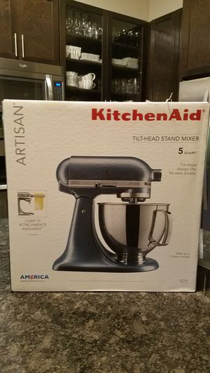 Kitchen Aid Artisan Stand Mixer Steel Blue for Sale in Dallas, TX