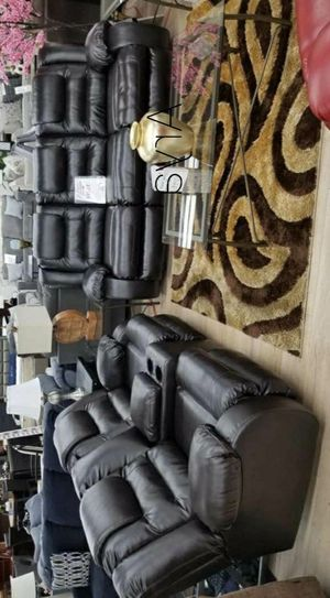 🎉💲39 Down Payment🎉Vacherie Black Reclining Living Room Set🚛Same Day Delivery for Sale in Alexandria, VA