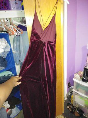 Fashion nova red velvet dress for Sale in Tempe, AZ