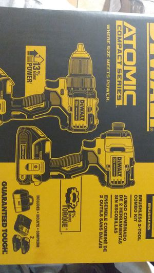 DeWALT Atomic 20v MAX DRILL/ DRIVER AND IMPACT BRUSHLESS 2 TOOL COMBO KIT for Sale in Ocala, FL