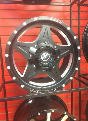 """(4) New XF 18"""" Black Matte Rims for Sale in Orlando, FL"""