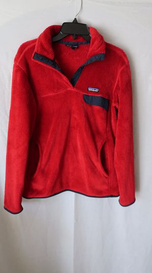 Patagonia red sherpa style sweatshirt - Size L for Sale in Highland, CA