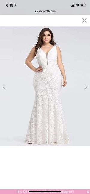 Size 20 white lace wedding/formal dress for Sale in Menifee, CA