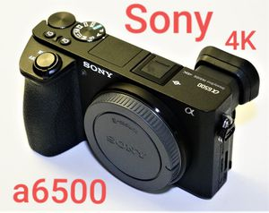 Sony Alpha a6500 Mirrorless Camera BODY 4k Video Camera a6500 Vlog, 4d, UHD 4K Video S-Log3 Gamma - S&Q Motion in Full HD 120 fps 5-Axis for Sale in Miami, FL