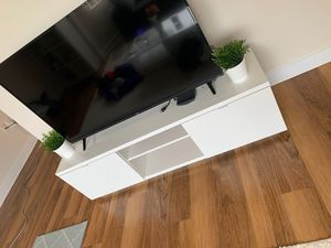 TV Stand, 55' inches, white tv stand for Sale in Alexandria, VA
