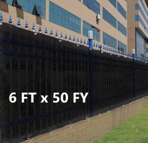 6x50ft Privacy Fence Screen Mesh in Black and Tan for Sale in Pomona, CA