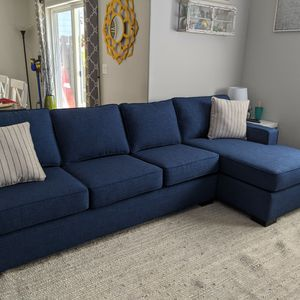 Navy Blue Stanton Sectional, Right-Hand Facing for Sale in Boring, OR