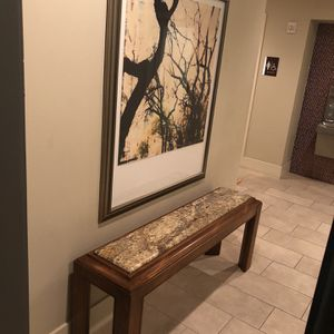 Australian Blackwood Bench With Marble Top for Sale in Houston, TX