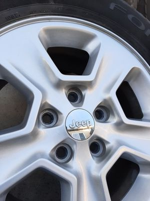 "💥💥 Jeep Grand Cherokee, Wrangler / Dodge Durango 17"" rims/wheels with good tires! 💥💥 for Sale in Bell Gardens, CA"