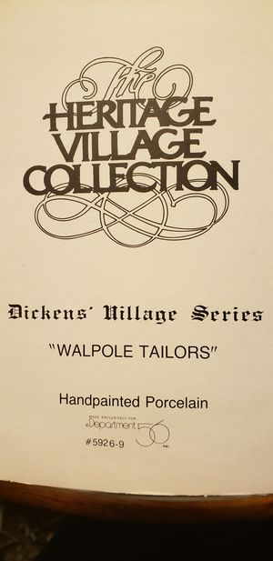 Dicken's Village Series: walpole Tailors for Sale in South Gate, CA