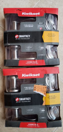 kwikset lido smartkey door lock sets in nickel for Sale in Moreno Valley,  CA