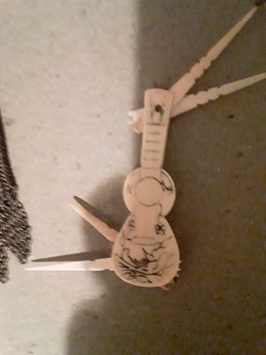 Real Ivory Guitar Shaped Toothpick for Sale in Beaverton, OR