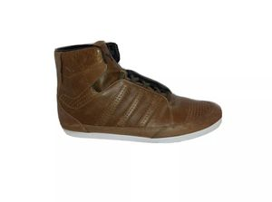 Adidas Y-3 High Yohji Yamamoto Brown Leather Premium Sneakers Mens 12 G15133 for Sale in Lynwood, CA