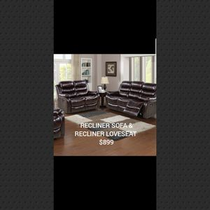 Recliner sofa and recliner loveseat for Sale in Queens, NY