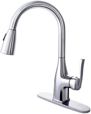 Chrome Plated Finish Kitchen Faucet, Single Hand Pull-Down Sprayer Kitchen Sink Faucet for Sale in Tamarac, FL